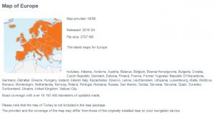 Mapa Evrope Igo Here 2016.Q4